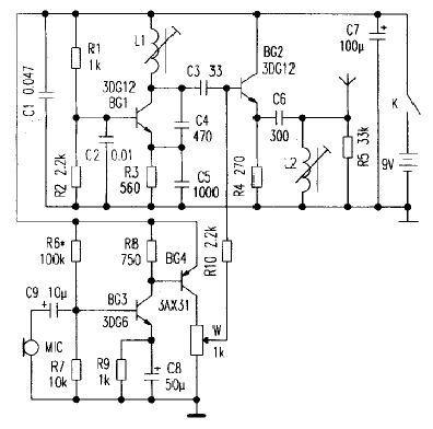 三极管调幅电路