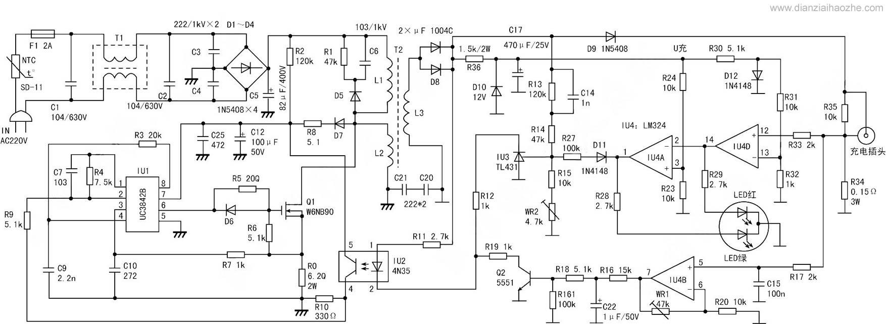 电动车充电器电路图集