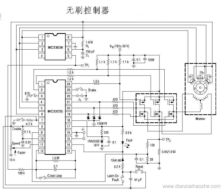 电动车控制器电路图集