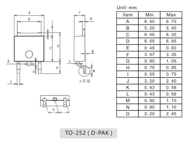 to-252封装外形,to-252封装尺寸_电子元件_电子爱好者
