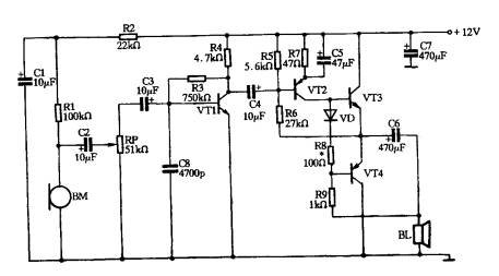 喊话器功率放大电路