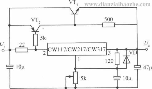 cw117/cw217/cw317应用电路(五);