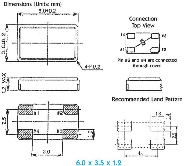 无源晶振常见的封装尺寸及其实物图