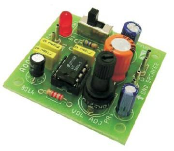 电池供电lm386集成功放电路