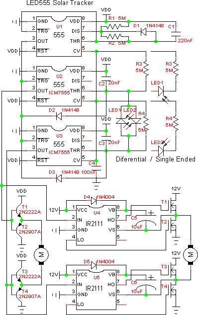 太阳跟踪器电路图集