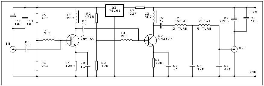 晶体管甚高频功率放大器