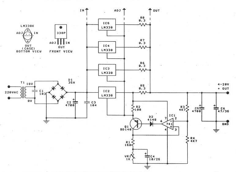 0 30v 20a大功率稳压电源 国外电子资料 电子爱好者