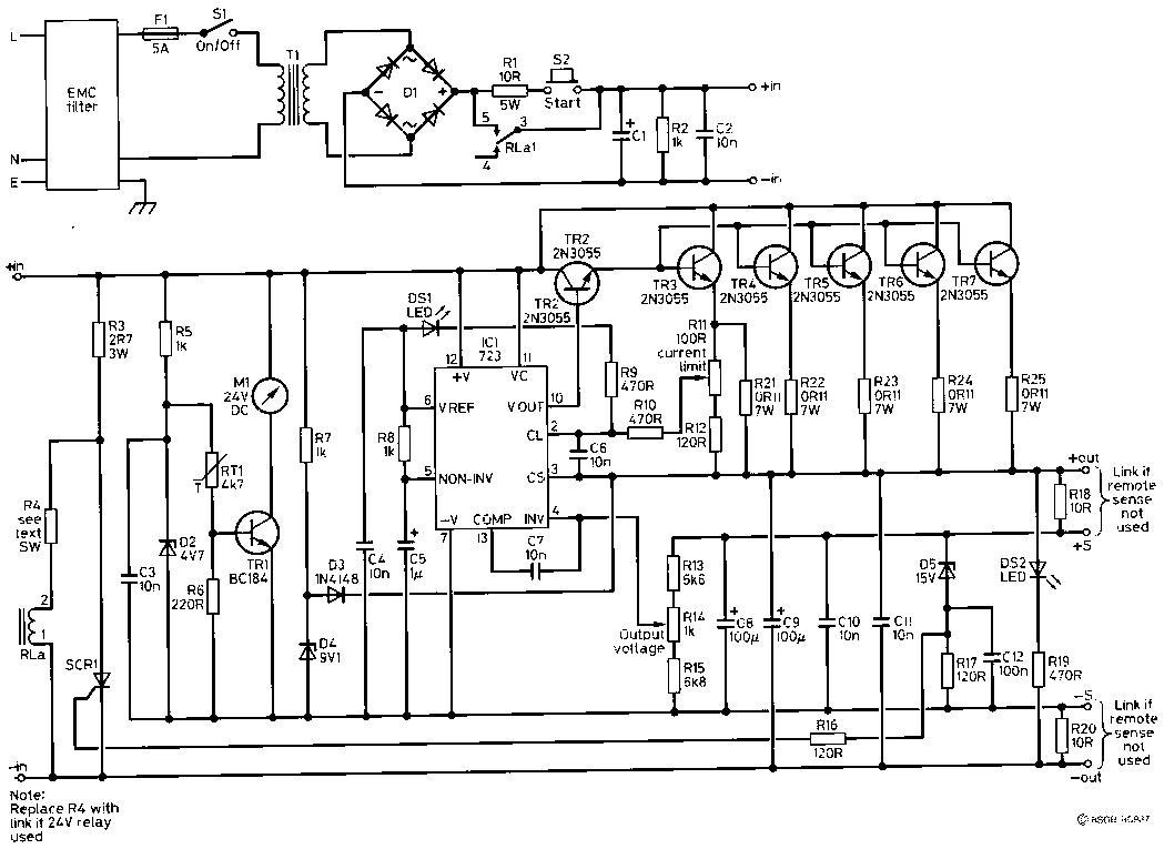 lm723集成电路40a开关稳压电源