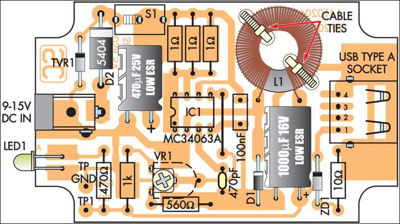 mc34063开关模式5伏稳压电源