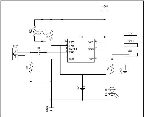 压电触发开关电路_国外电子资料