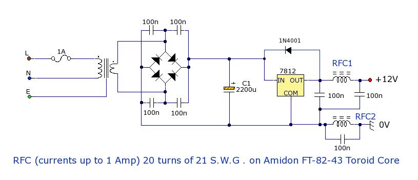 一个共同的电源电压为12v,以便次级为12v,1a是典型的小型接收机或发射